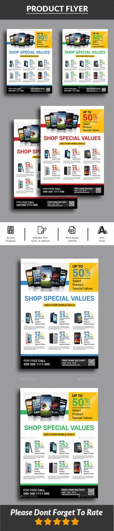 Cyber Monday Sale Flyer Templates Flyer template, Psd templates - product flyer
