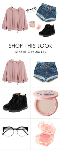 """Cute Girl"" by sheyla-vamps-kawaii ❤ liked on Polyvore featuring Chicnova Fashion, Levi's, yeswalker, Too Faced Cosmetics and Estée Lauder"