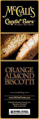 Candle Bars-5.5 oz Pack-ORANGE ALMOND BISCOTTI-Scented Candles - McCall's Candles