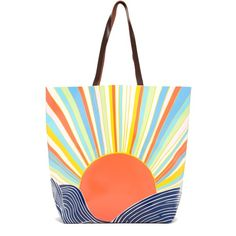 Mara Hoffman Printed Tote Bag ($76) ❤ liked on Polyvore featuring bags, handbags, tote bags, totes, misun, hand bags, man bag, white hand bags, cotton handbags and white tote