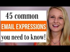 45 Useful Email Expressions you nee d to know to write better emails in English. Learn these common english phrases and expression to improve your writing. English Speaking Skills, English Writing Skills, Learn English Words, English Language Learning, English Lessons, English Vocabulary, English Grammar, Teaching English, Speak English Fluently