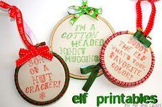 Elf printables ^_^