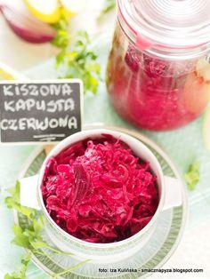 kiszona_czerwona_kapusta_w_sloiku Raspberry, Cabbage, Fruit, Vegetables, Food, Essen, Cabbages, Vegetable Recipes, Meals
