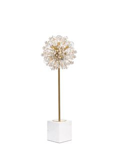 because occasionally you need a little backup to light up the room. the dickinson, with its stunning starburst design and clusters of pearls and crystals, is up for the task--and brings a little glamo My New Room, My Room, Buffet Table Lamps, Chandelier, Tiffany Lamps, My Living Room, Decoration, My Dream Home, Home Accessories