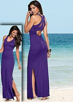 Maxi Dresses - One Shoulder, Strapless Maxi Dress & Sexy Open Back Maxi Dress Looks Open Back Maxi Dress, Sexy Maxi Dress, Sexy Dresses, Shirt Dress, Classy Dress, Casual Day Dresses, Summer Dresses, Summer Outfits, Venus Clothing