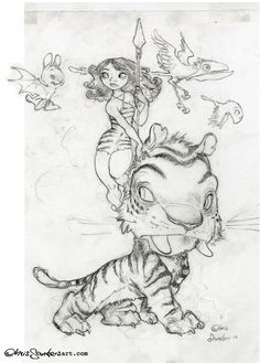 """Chris Sanders Art — The rough sketch of the SDCC-exclusive """"Croods""""..."""