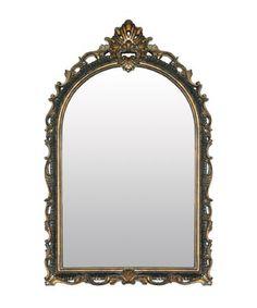stewart mirror in antique silver finish bedbathandbeyond com
