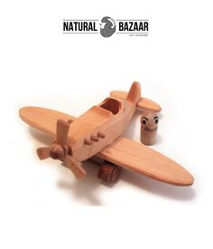 Wooden Toys – t7_100% Eco and Natural, Wooden Aeroplane Toy – a unique product by NaturalBazaar on DaWanda