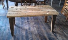 Table from scaffolding boards