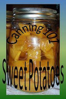 Canning 101: Sweet Potatoes