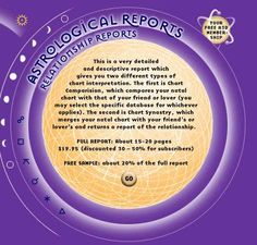Relationshp Reports - A3D Astrological Reports