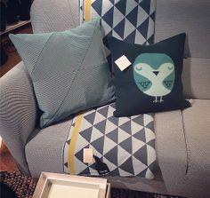 Rainy days are for cosying on the sofa! Our Robin cushion at Länna Möbler @Lisa Phillips-Bartonänna Möbler in Skogås, Sweden x