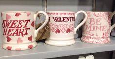 Emma Bridgewater Pink Wallpaper BE MINE 0.5 Pint Mug 2014