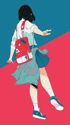 Ideas For Drawing Kawaii Girl Sketch Art And Illustration, Girl Illustrations, Aesthetic Anime, Aesthetic Art, Anime Art Girl, Manga Art, Psychedelic Art, Arte Do Kawaii, Tamako Love Story