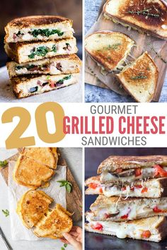 Don't make a boring cheese sandwich when there are so many varieties to try! Click here for 20 Gourmet Grilled Cheese Sandwich Recipes. #thecraftyblogstalker #gourmetgrilledcheese #grilledcheesesandwichrecipes #grilledcheesesandwich
