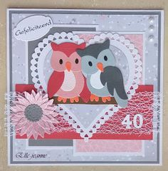 Love Cards, Diy Cards, Cascading Card, House Mouse Stamps, Marianne Design Cards, Boyfriend Crafts, Owl Punch, Tropical Art, General Crafts