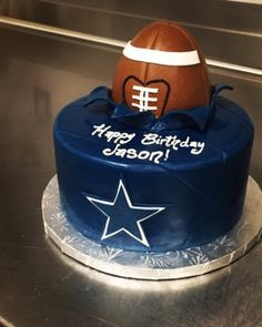 Dallas Cowboys Football Birthday Cake Normanloveconfections