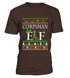 Men S Corpsman Elf Shirt   Christmas Gifts For Corpsman 3xl Black