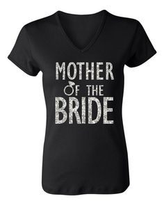 NoBull Woman Apparel Mother of the Bride Glitter Shirt (3X-Large)
