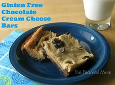 Gluten Free Chocolate Cream Cheese Bars (absolutely decadent!)--The Peaceful Mom #glutenfreerecipe