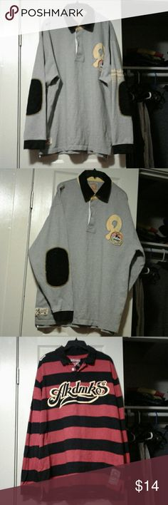 Mens rugby 2 mens long sleeve shirts Ak Shirts Polos