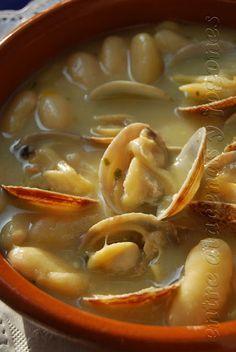 Entre alacenas y fogones...: De Asturias Fabas con almejas ó fabes con amasueles  receta