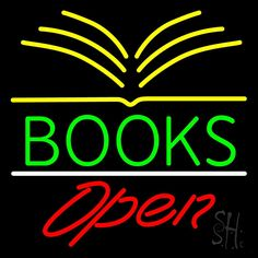 Books Red Open Neon Sign 24 Tall x 24 Wide x 3 Deep, is 100% Handcrafted with Real Glass Tube Neon Sign. !!! Made in USA !!!  Colors on the sign are Red and Blue. Books Red Open Neon Sign is high impact, eye catching, real glass tube neon sign. This characteristic glow can attract customers like nothing else, virtually burning your identity into the minds of potential and future customers. Books Red Open Neon Sign can be left on 24 hours a day, seven days a week, 365 days a year...