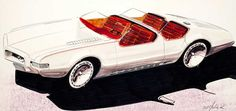 Marker rendering done in 1968 for possible Toronado Auto Show Concept Car.