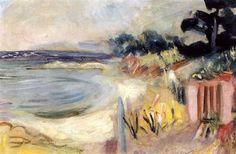 Charles Camoin - Saint-Tropez, la plage des graniers Saint Tropez, Henri Matisse, Maurice De Vlaminck, Andre Derain, Art Nature, Pastels, My Arts, Waves, Landscape