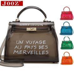 c226172831a4 Clear Transparent PVC Shoulder Bags Women Candy Color Women Jelly Bags  Purse Solid Color Handbags sac
