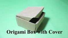 Easy Origami Box with Lid. Step by step guide with video tutorial  The origami box with lid is not so hard to fold. You can fold it easily and use for a gift box or store something small. You can fold a origami box with lid by only following this simple step by step instruction or you can learn from watching our video tutorial. http://atpoure.com