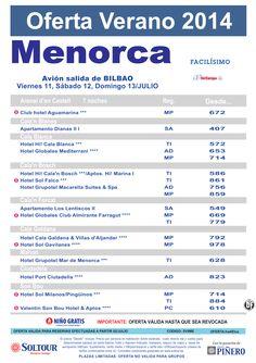 Menorca: Oferta hoteles en Menorca, salidas 11, 12 y 13 Julio desde Bilbao ultimo minuto - http://zocotours.com/menorca-oferta-hoteles-en-menorca-salidas-11-12-y-13-julio-desde-bilbao-ultimo-minuto/