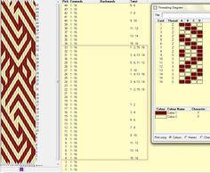 Diagonal, 16 tarjetas, 2 colores, el dibujo repite cada 30 movimientos   // diagonal_04 ༺❁