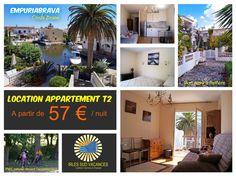Empuriabrava - Location - Joli appartement avec vue sur Port privé 57€/nuit  Réservation -> http://irles-invest-immo.com/annonce/empuriabrava-location-appartement-t2-atypique-avec-vue-sur-les-canaux-2/