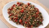 This parsley-packed recipe makes a ton (think leftovers) and is a great crowd-pleaser. Everyday Food editor Sarah Carey shows you how to roast the ingredients to get a deeply flavorful side dish.