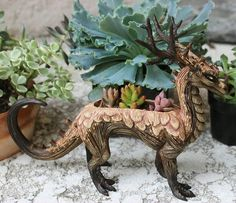 dragon plant clay handmade What about something like this but better, made specific for planting Clay Dragon, Dragon Art, Fantasy Creatures, Mythical Creatures, Fimo Polymer Clay, D House, Ideias Diy, Clay Projects, Clay Creations
