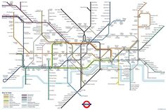 Imaginary London Tube map with food stations