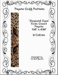 Peyote Bracelet Pattern Animal Print Leopard by CinfulBeadPatterns