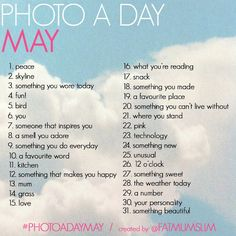 Got to start this #photoadaymay !