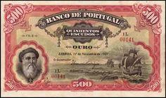 Portugal - 500 escudos de 1922 do Banco de Portugal
