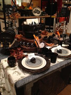 Williams Sonoma table for Halloween