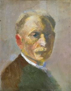 Emil Nolde (German-Danish, 1867 – 1956) Self-portrait, 1899 Oil on canvas  Städel Museum, Frankfurt am Main, Germany
