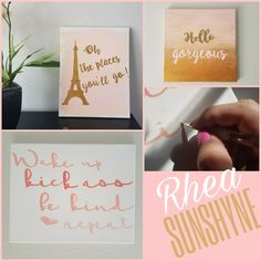 Oh the places you'll go/hello gorgeous/wake up kick ass be kind repeat/ pink coral gold sparkle white / college girls room