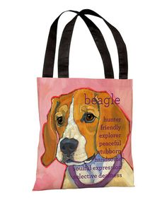Take a look at this Pink Beagle Tote by OneBellaCasa on #zulily today!