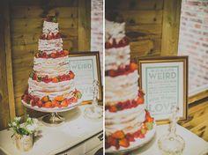 naked wedding cake for summer