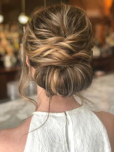 Boho updo - wedding hair