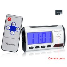 Toughsty™ 8GB Hidden Camera Clock Motion Activated Video Recorder Mini DV Camcorder Voice recording