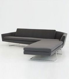 Two piece sectional Sculpt sofa designed by David Weeks, in current production by Ralph Pucci International