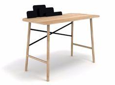Rectangular oak writing desk CLOUD