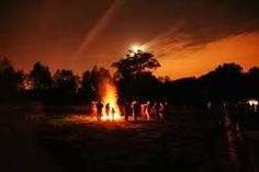 Samhain festival, bonfires with cleansing and protective powers are ritualy lit. Samhain Festival, Hallows Eve, Pagan, Mists, Celtic, Sunset, Outdoor Decor, Bonfires, Design